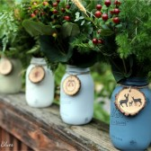 Yosemite Christmas Painted Mason Jars