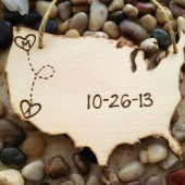 USA Wedding Cake Topper with Heart and Initial in Each State Such a Unique Way for Transplants Travel Theme