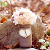 Rustic Wedding Centerpiece Mason Jar