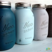 Ocean Painted Mason Jars