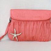 Coral clutch with starfish brooch