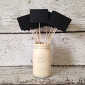 Mini Wooden Square Chalkboard Sign Set of 12, Wedding Table Numbers, Chalkboard Table Numbers, Candy Buffet Chalkboards