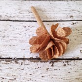 Burlap Flower Pen, Rustic Decor, Guest Book Pen, Country Wedding