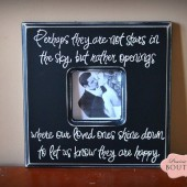 "Perhaps they are not stars in the sky, 12"" picture frame"