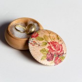 Red Roses Wedding ring box, ring bearer box, jewelry box