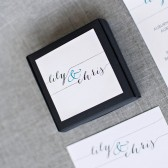 Black and Teal Wedding Favor Boxes - Tarte Box - Candy Box - Lily and Chris