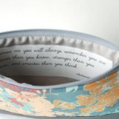 Cosmetic Bag with Inspirational Quote