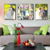 Triple Canvas with Vows and Collage