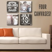 Four Custom Canvases Collage
