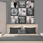 9 Canvases Headboard Art
