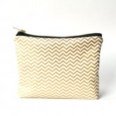 Gold Chevron Bag