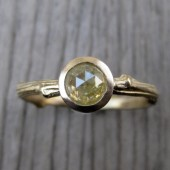 SALE: Yellow Diamond Twig Ring, Yellow Gold, .65ct, One of a Kind