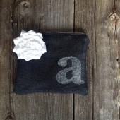 Black Clutch with Initial Personalization, Personalized Clutch, Black and White Clutch, Wedding Clutch, Bridesmaid Clutch