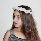Silk flower crown, White fairy crown, Wedding flower crown, Flower girl crown, Flower girl head wreath, Bridal halo