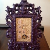 Purple Baroque Frame Ring Holder