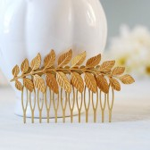 Gold Leaf Branch Hair Comb