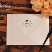 Initial Heart Return Address Stamp