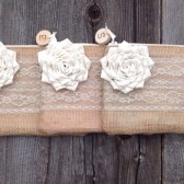 Personalized wedding clutches - Bridesmaid Clutch - Birch Wood Slices - Burlap Clutches - You Choose The Color Flower and Lining