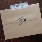 Rustic Kraft Sealed with love stickers