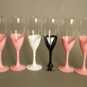 Custom Bridesmaids Gift, Bridal Bachelor Party Champagne Glasses Personalized Dresses and Groomsman Suits