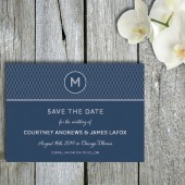 Monogram Save the Date