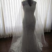"Drop Wedding Veil 110"" Long Illusion Tulle"