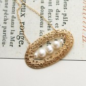 Filigree Pearl Necklace