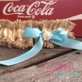 Burlap Wedding Garter