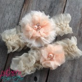 Vintage Silk Wedding Garter Set