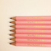 Flower Girl Pencils