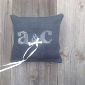 Black burlap ring bearer pillow, personalized ring bearer pillow, ring pillow, personalized wedding pillow
