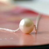 Floating Pearl Bridal Necklace