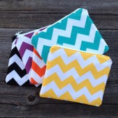 6 Chevron Clutches, Bridesmaid Clutch, Bridesmaid Gift, You Choose The Color Fabric