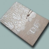 Custom Embroidered Monogram Bible Cover
