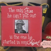 The only FIRE he can't put out, picture frame