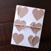 Rustic Kraft Heart Stickers // Envelope Seals
