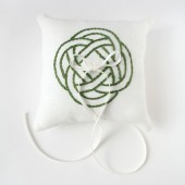 Green Celtic Knot Pillow