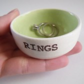 Key Lime Green Ring Dish, Handmade, Customizable