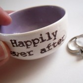 Lavender RIng Dish, Personalized Names or Wedding Date
