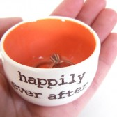 Tangerine Orange Customizable Wedding Ring Dish