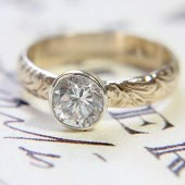 Gold & Silver Eco-Friendly Engagement Ring