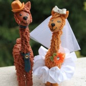 Llama cake topper, wedding cake topper, cute cake topper, funny cake topper, wedding keepsake, custom bride groom, personalized wedding, animal cake topper,