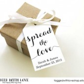 Spread the Love Tags - Medium Size - Wedding Favor Tag