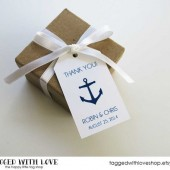 Thank You Anchor Wedding Favor Tags - Medium Size