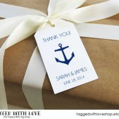 Thank You Anchor Nautical Wedding Favor Tags - LARGE SIZE