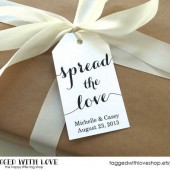 Spread the Love - Wedding Favor Tags - Large Size