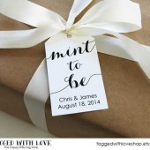 Mint to Be - Wedding Favor Tags