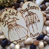 Flower Girl and Ring Bearer Gift Tags for your Little Ones Doubles as a Christmas Ornament Personalized with Names and Outfits