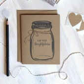 For you thoughtfulness Cards / Rustic Kraft Mason Jar Thank You Cards