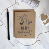 Rustic Kraft Will you be my bridesmaid? Card